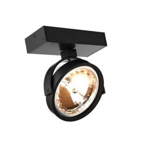 Romeone 1 fekete fali lámpa
