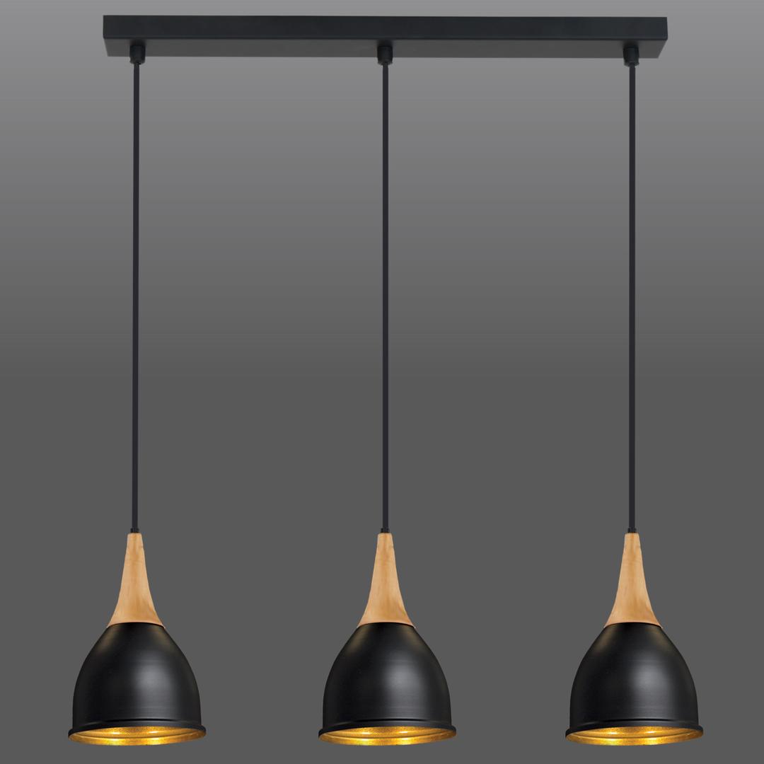 Fekete Aria 3 függő lámpa