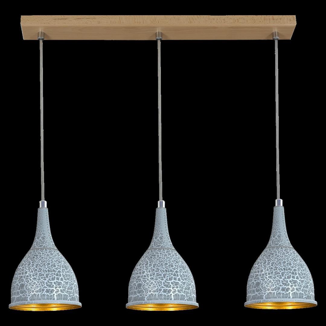 Függő lámpa Beton 3 csík