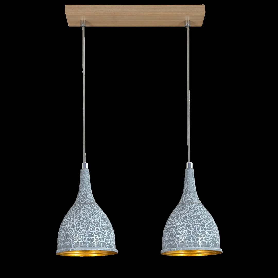Függő lámpa Beton 2 csík
