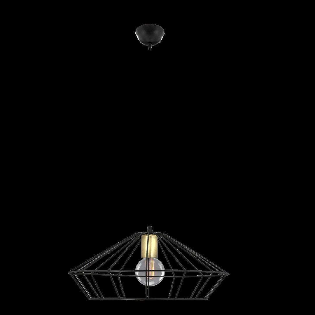 Függő lámpa Tigra 1 fekete, patinás kelyhellyel