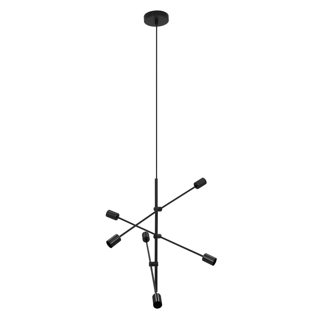Fekete Rotor 6 függő lámpa