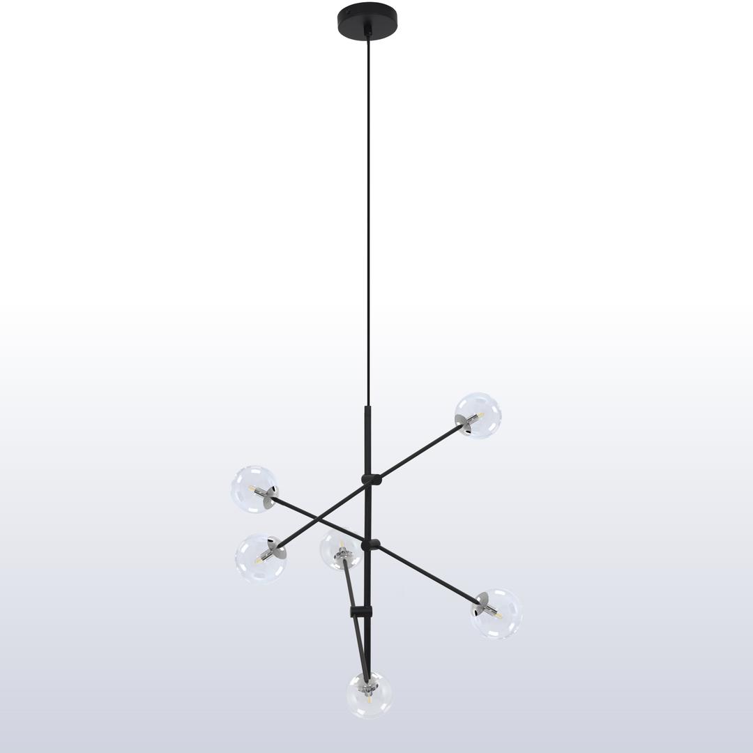 Függő lámpa Rotor 6 világos árnyék