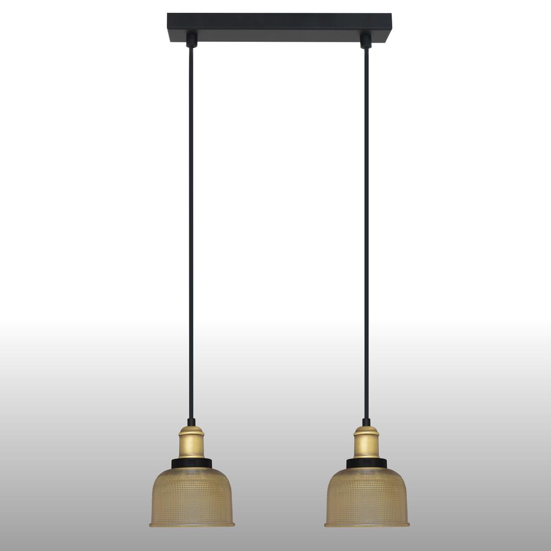 Sárga Omida függő lámpa 2 csík