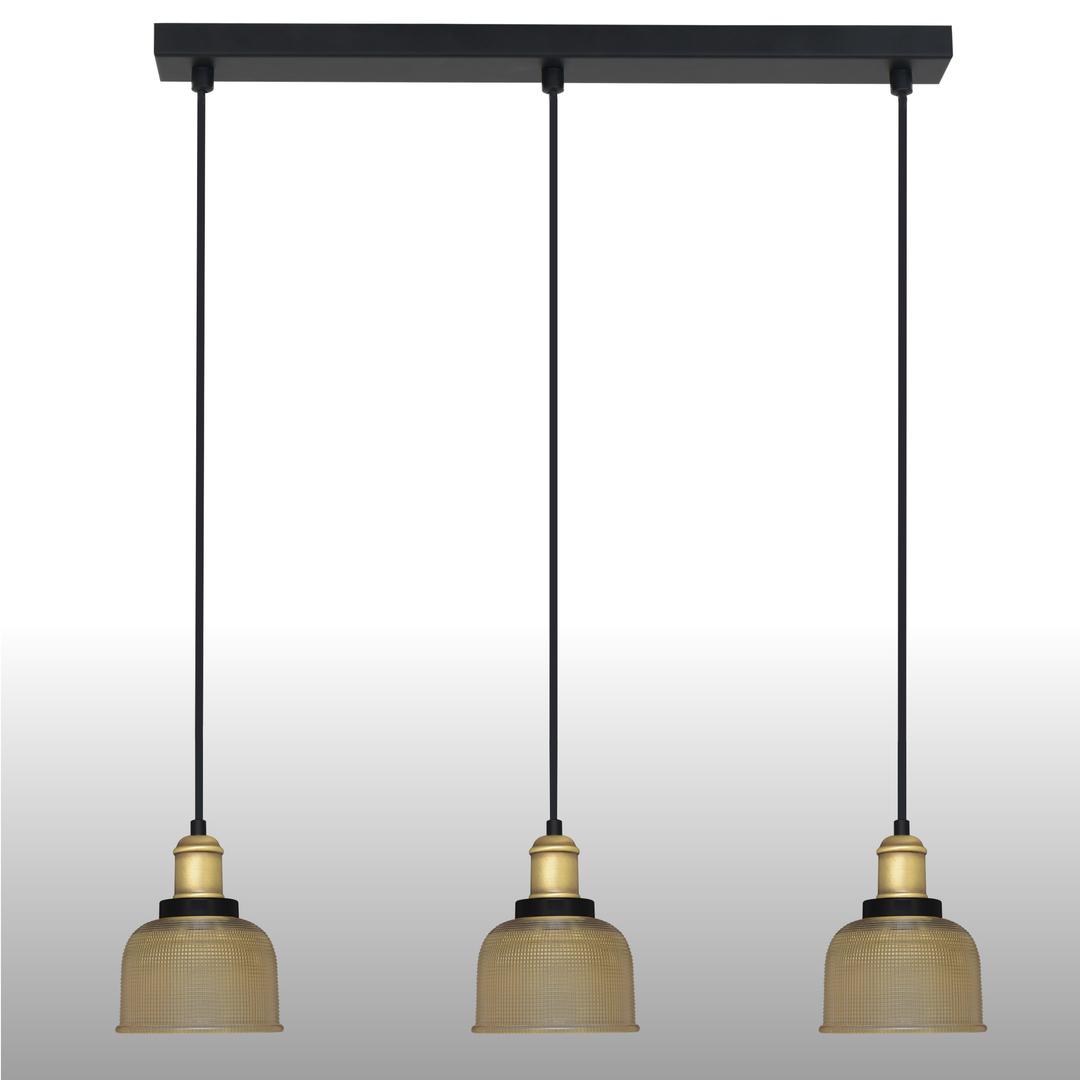 Sárga függő lámpa Omida 3 csík