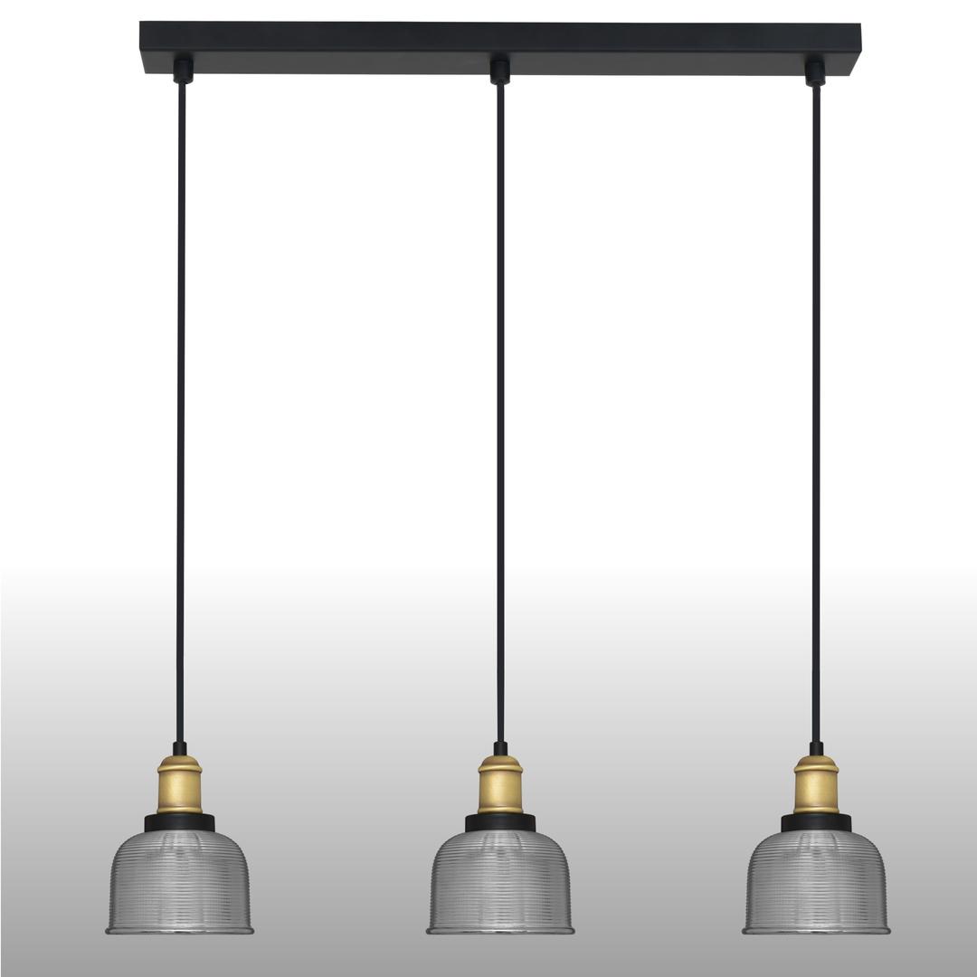 Ezüst függő lámpa Omida 3 csík