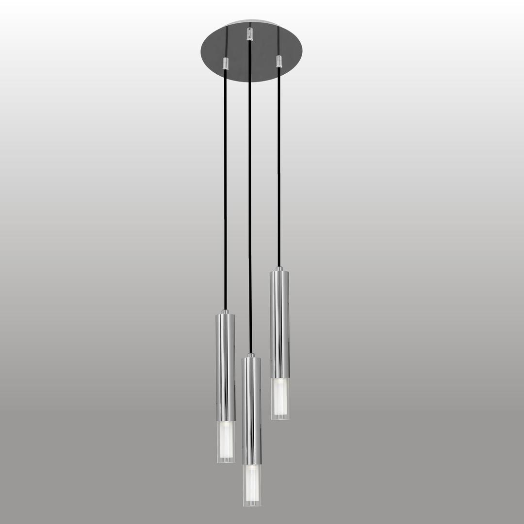 Függő lámpa Kuga 3 M króm