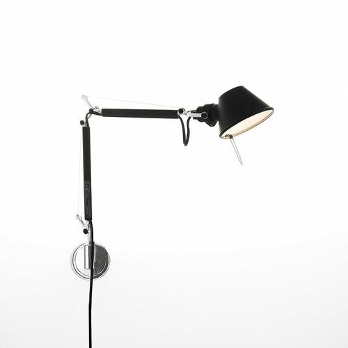 Fali lámpa Artemide Tolomeo Micro Wall A010930 fekete