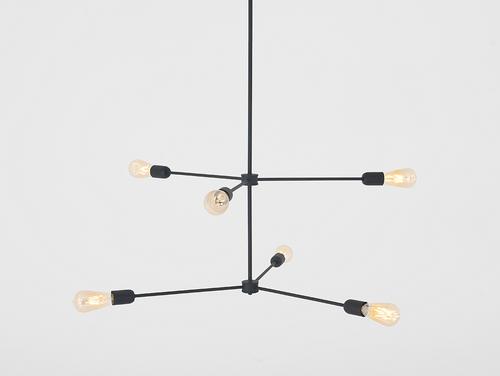Medállámpa Loft TRISO 6 - fekete