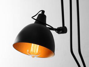COBEN WALL 2 fali lámpa - fekete small 3