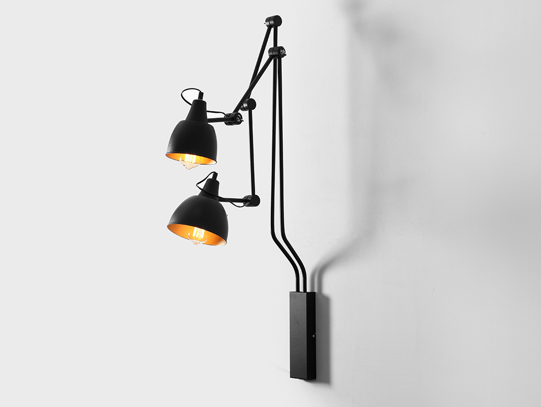 COBEN WALL 2 fali lámpa - fekete