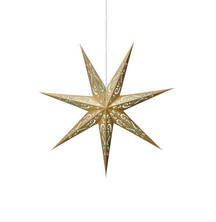 ELIN Paper Star kék-arany