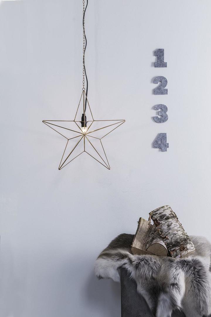 TJUSA Álló dekoráció 42cm E14 Arany