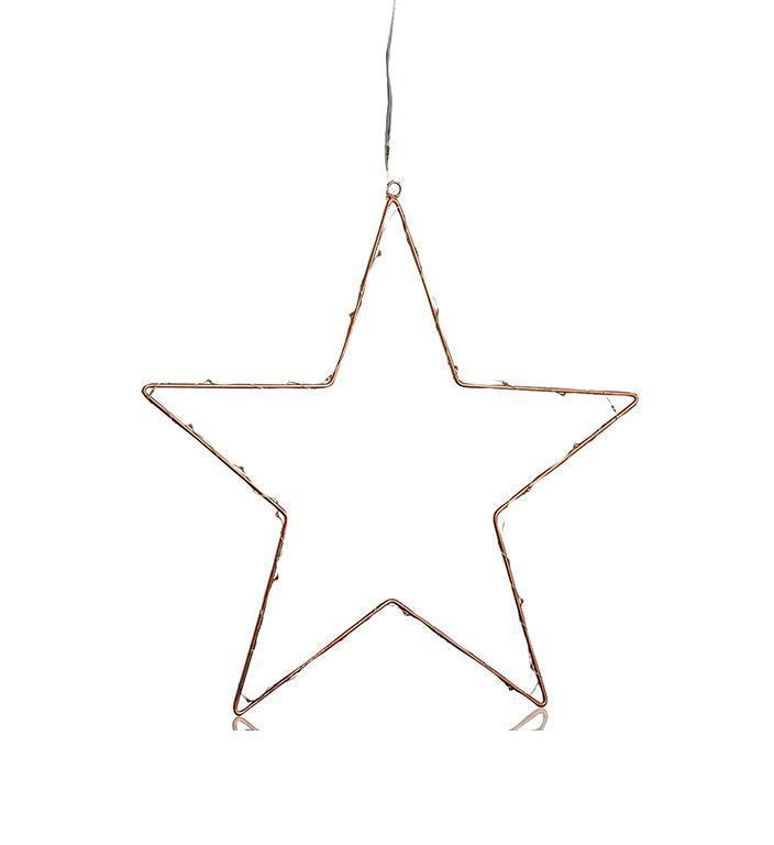 NORDGÅRD Star LED 40cm B / O csatlakozó rézzel