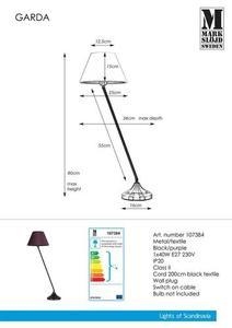 GARDA 1L asztal fekete / lila small 0