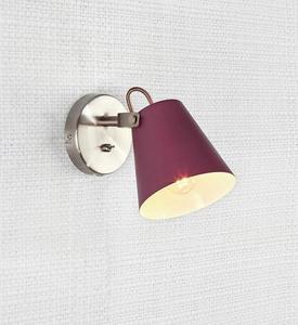 TRIBE fali lámpa 1L Burgundia / Acél small 1