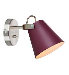 TRIBE fali lámpa 1L Burgundia / Acél small 2