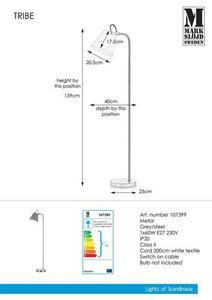 TRIBE 1L szürke / acél padló small 0