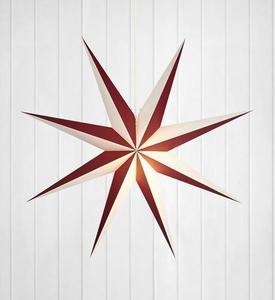 ALVA papírcsillag medál 75 E14 bor / fehér small 0