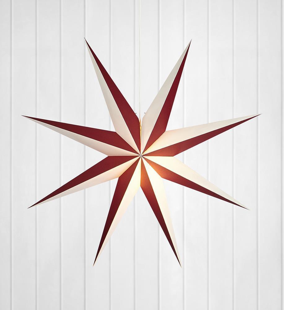 ALVA papírcsillag medál 75 E14 bor / fehér