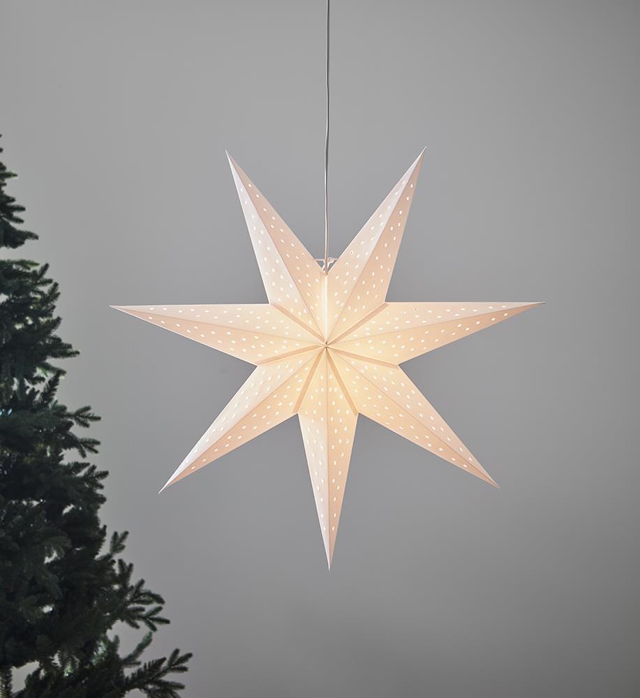 CLARA medál fehér csillag 75cm