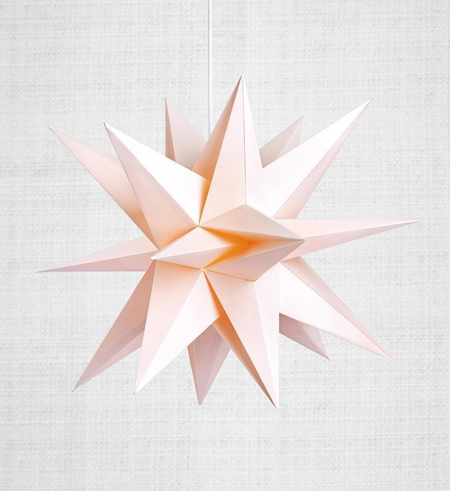Skillinge 3D papír csillag rózsaszín
