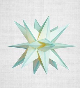 Skillinge 3D papírcsillag Lightblue medál small 0