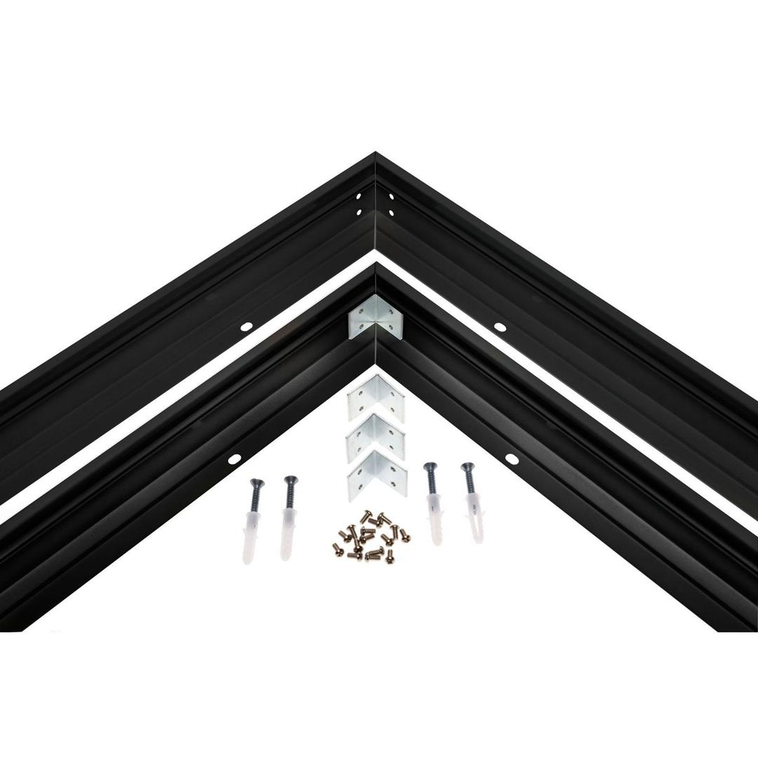 Felületre szerelhető keret Black Algine 600 X600