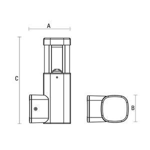 Torre Led 230 V 7 W Ip54 Ww Falra szerelhető small 1