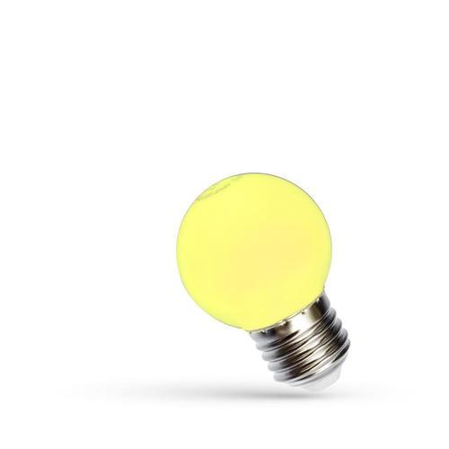 Led golyó E27 230 V 1 W sárga spektrum