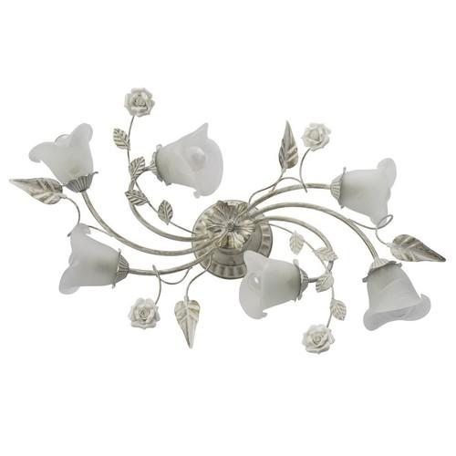 Mennyezet virágmotívummal Verona Flora 6 White - 242014806