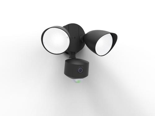 Kettős kültéri fényszóró mozgásérzékelővel és Lutec DRACO audio -videokamerával