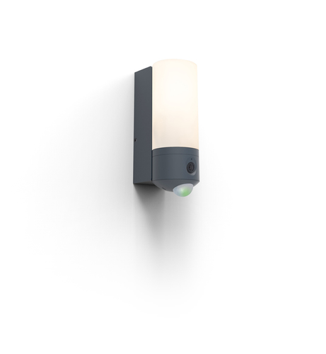 Kültéri fali lámpa kamerával és Lutec POLLUX mozgásérzékelővel