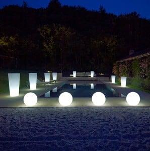Dekoratív kerti gömbkészlet - Luna Balls 25, 30, 40 cm + Led izzók small 6