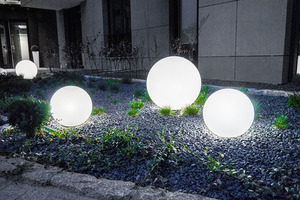 Dekoratív kerti gömbkészlet - Luna Balls 25, 30, 40 cm + Led izzók small 2