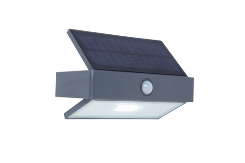 Kültéri napelemes fali lámpa Lutec ARROW mozgásérzékelővel