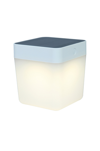 Kültéri napelemes asztali lámpa Lutec TABLE CUBE