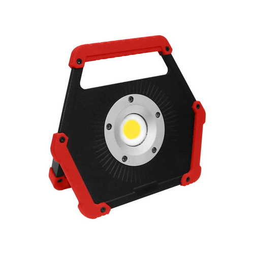 LED reflektor 10W 6400K piros akkumulátor
