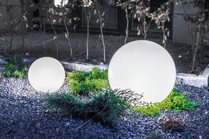 Dekoratív kerti gömbkészlet - Luna Balls 20, 25, 30, 40 cm + Led izzók small 6