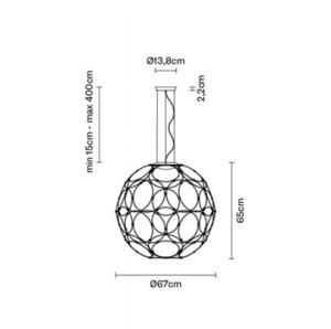 Függő lámpa Fabbian Giro F30 85cm - antracit - F30 A03 21 small 4