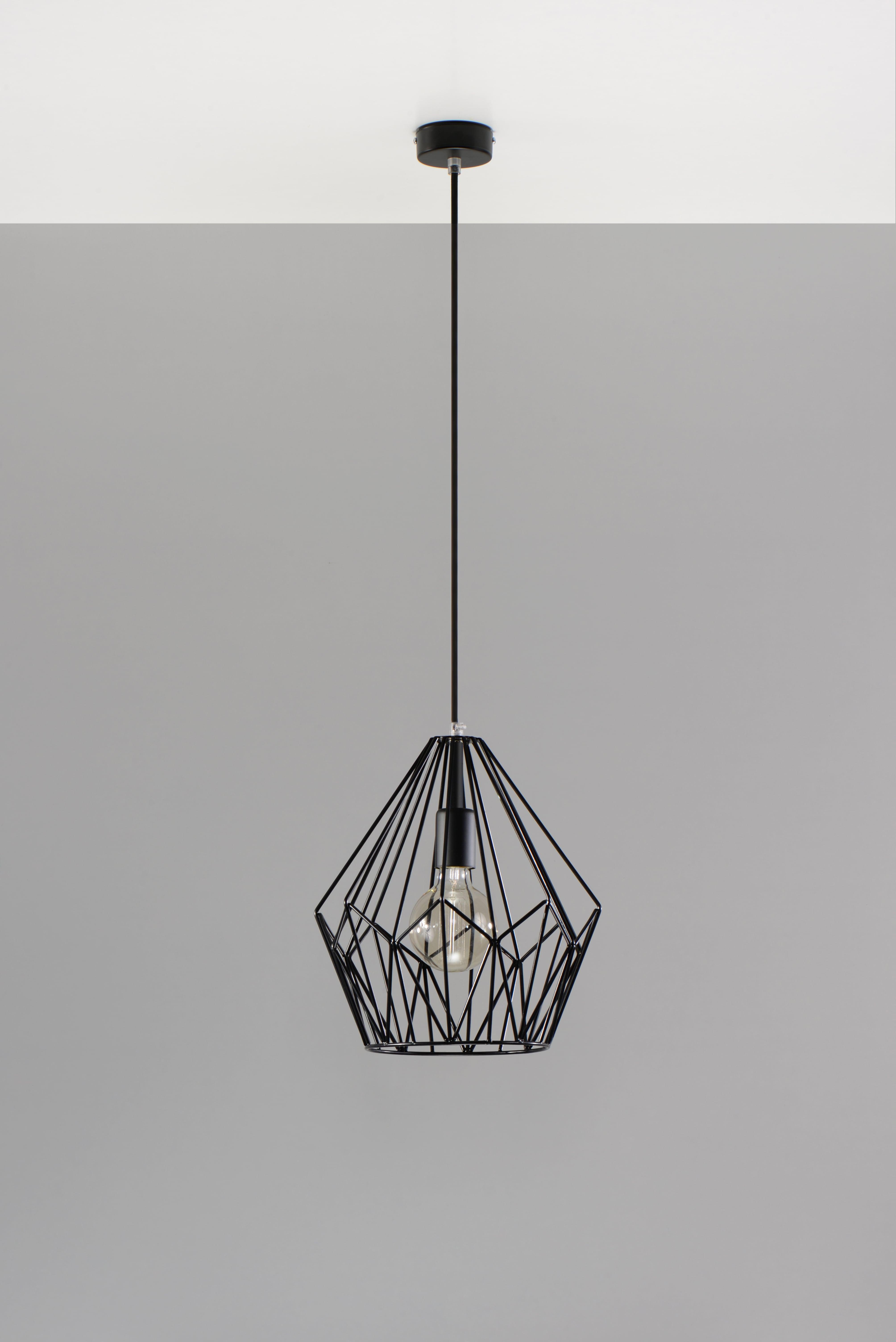 Modern fekete JAULA medál lámpa