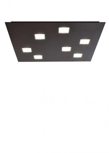 Modern mennyezet Fabbian Quarter 5W 59.5x59.5cm - Fekete - F38G1302