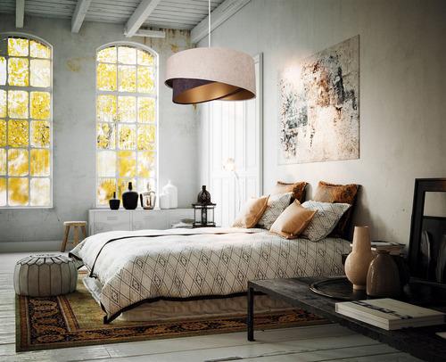 Függő lámpa Elegance 60W E27 aszimmetrikus bézs / barna