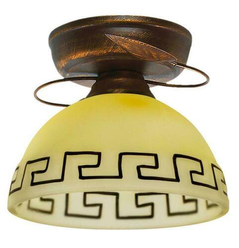 Retro mennyezeti lámpa bronz + réz