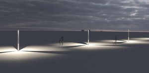 Platek kerti lámpa - TRIS COB LED 3000K small 9