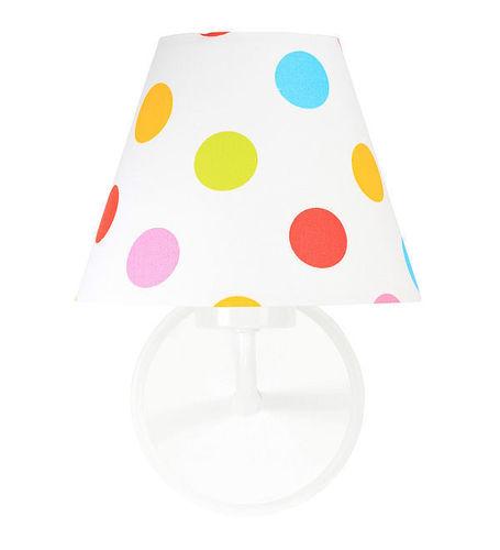 Fali lámpa kúp színes pöttyökkel Raggio E27 60W gyerekeknek