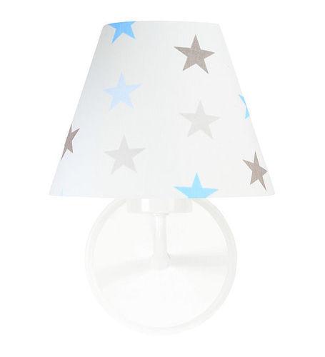 Fali lámpa fiúnak Raggio E27 60W fehér / szürke-kék csillagok