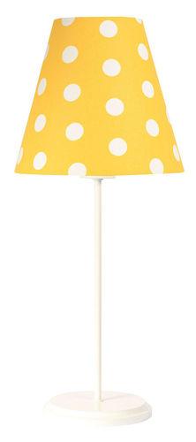 Asztali lámpa gyermeknek Ombrello 60W E27 50cm arany / fehér pöttyök