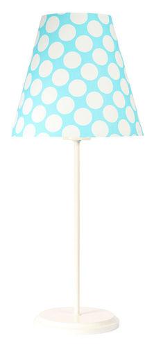Asztali lámpa lámpaernyővel Ombrello 60W E27 50cm kék / fehér pöttyök