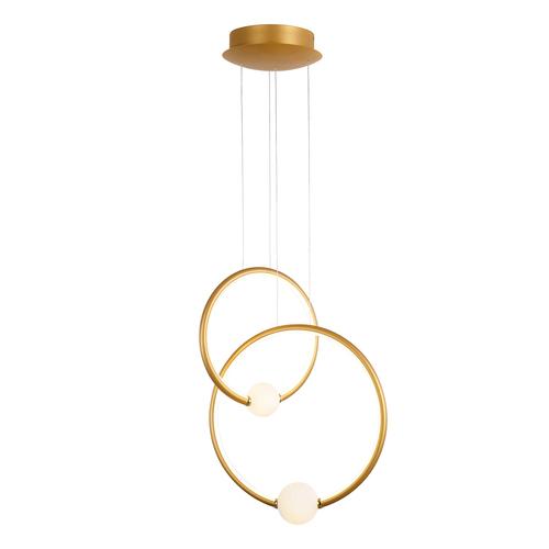 Bronz LED medál lámpa Lausanne